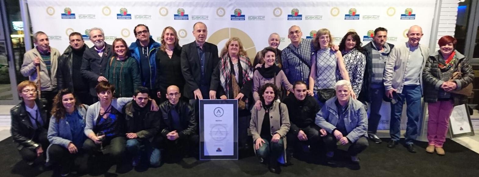 Reconocimiento ``A de PLATA`` a la Gestión Avanzada otorgada por Gobierno Vasco