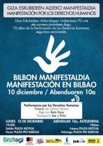 Manifestación por los Derechos Humanos @ Plaza Moyua Bilbao