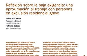 Reflexión sobre la baja exigencia: una aproximación al trabajo con personas en exclusión residencial grave